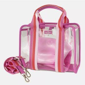 NWT Kate Spade Sam See Through Medium Satchel Bag